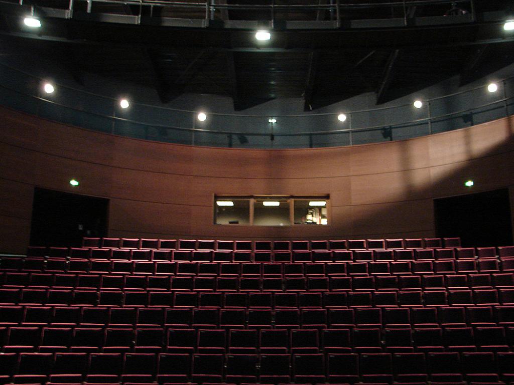 Outre un théâtre, le centre dispose de salles d'exposition, d'un studio d'enregistrement...