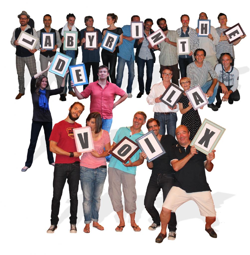 Résultat de l'une de mes actions de communication : Réunir tous les artistes de l'édition 2014 autour du Laby !