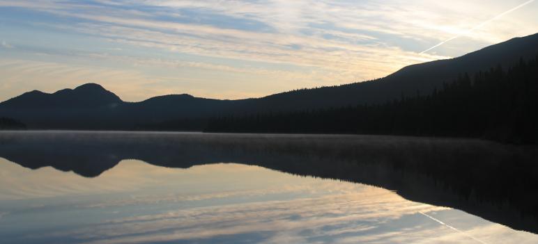 Le lac Cascapédia s'éveille